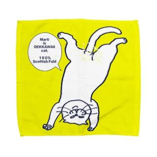 ボカシ入り逆さマルきいろ Towel handkerchiefs