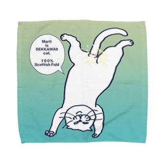 ボカシ入り逆さマル(グラデ) Towel handkerchiefs