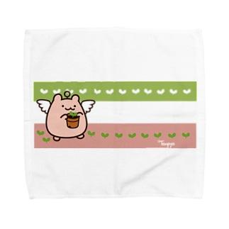 はむてん(芽が出た) Towel handkerchiefs