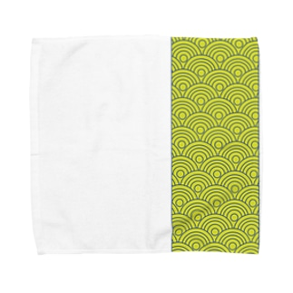 aozora-purasuの波模様 Towel handkerchiefs
