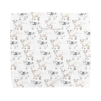 干支(丑年) Towel handkerchiefs
