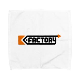 K-FACTORY ロゴ Towel handkerchiefs