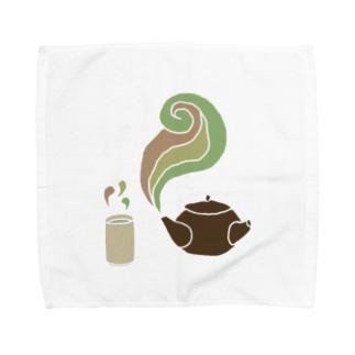 お茶 タオルハンカチ