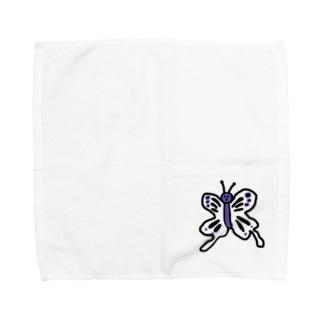 毒あるちょうちょう Towel Handkerchief