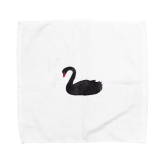 黒鳥(アナログ) Towel handkerchiefs