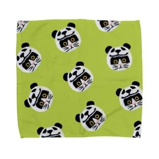 かぶる猫[パンダver.](バットニャン) Towel Handkerchief