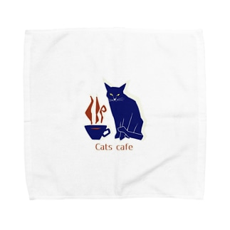 Cats cafe Towel handkerchiefs