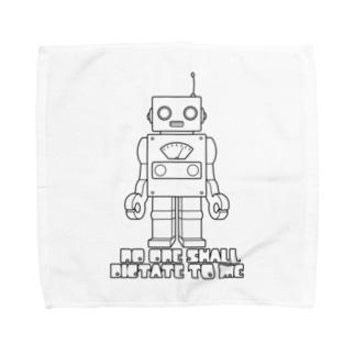ロボット(ブラック) Towel handkerchiefs