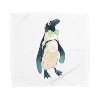 おめかしペンギン Towel handkerchiefs