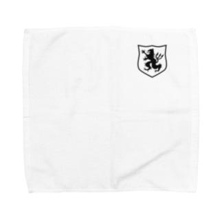 DEVGRU ライオン盾型(ワンポイント 黒) Towel handkerchiefs