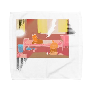 西日の部屋 Towel Handkerchief