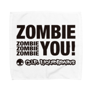 KohsukeのZombie You! (black print) タオルハンカチ