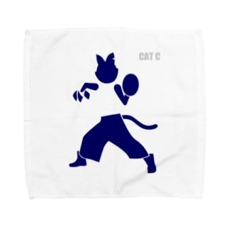 ピクトグラムキャットC Towel Handkerchief