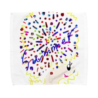 アフロちゃん花火 Towel handkerchiefs