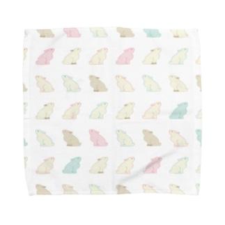 うさちゃん|マルチカラー Towel handkerchiefs