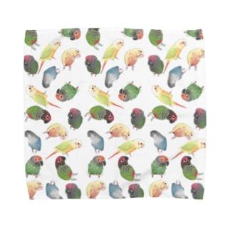 まめるりはことりのたっぷりウロコインコちゃん【まめるりはことり】 Towel Handkerchief