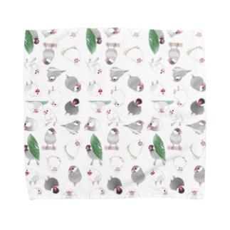 たっぷり文鳥ちゃん【まめるりはことり】 Towel Handkerchief