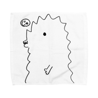 宮澤寿梨のじゅ印良品の『半じゅジラ』タオルハンカチ サイズ選択可能タオルハンカチ