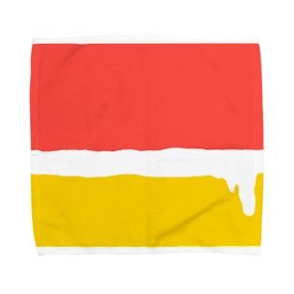 ビール 泡 Towel Handkerchief