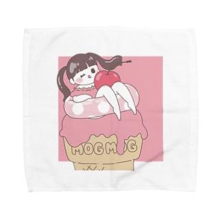 アイスと浮き輪ガール Towel Handkerchief