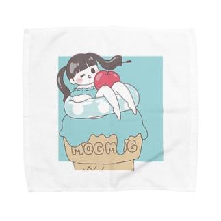 ミントアイスと浮き輪ガール Towel Handkerchief