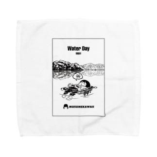 0801「#水の日 」 Towel Handkerchief