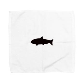 とてもシンプルなサメ Towel handkerchiefs