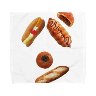 新デザインパンのパン文字 タオルハンカチ