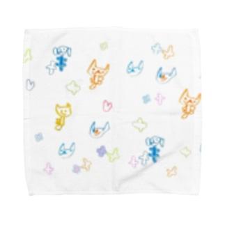 5歳児いぬねこ Towel handkerchiefs
