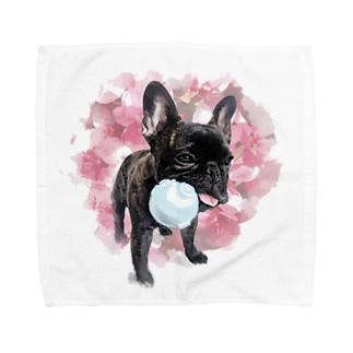 フレブル ブリンドル ボール渡さない Towel Handkerchief