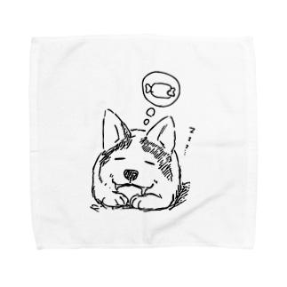 スリーピングコーギー Towel handkerchiefs