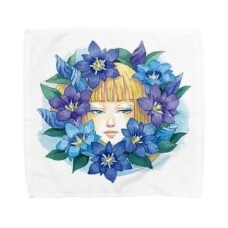 りんどう Towel handkerchiefs