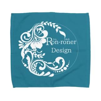 Ron-Roner Designロゴタオル青 Towel handkerchiefs