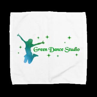gunjho'sgalleryのグリーンダンススタジオタオルハンカチ
