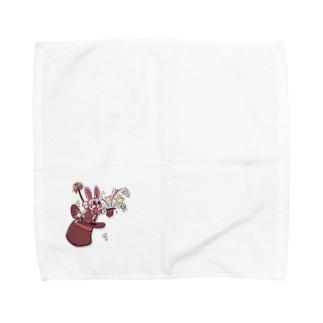 マジシャンうさぎ Towel handkerchiefs
