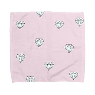 ピンクダイヤモンド Towel handkerchiefs
