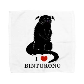 アイ・ラブ・ビントロング Towel Handkerchief