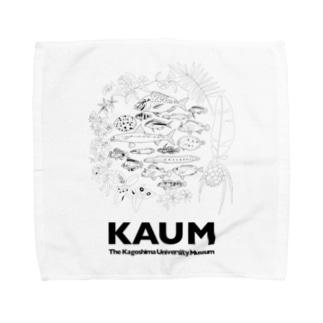 KAUM 黒プリント Towel Handkerchief
