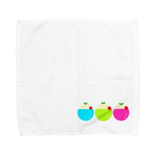 まるっとクリームソーダ Towel Handkerchief