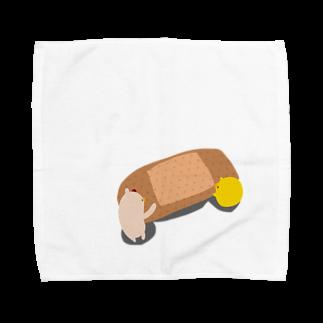 とりのささみ。のばんそうこう。 Towel handkerchiefs
