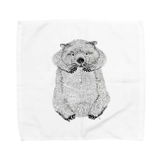 wombat(ペン画) Towel Handkerchief