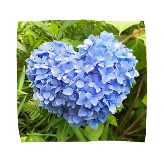 ハートの紫陽花 Towel handkerchiefs