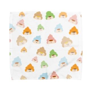 カラフルご不浄くん Towel Handkerchief