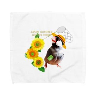 XL文鳥 日本の夏。文鳥の夏。 Towel handkerchiefs