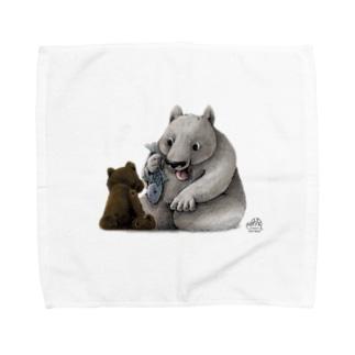 おすそわけクマ Towel handkerchiefs