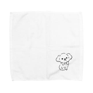 マルプーちゃん ホワイト ゆるめ Towel Handkerchief