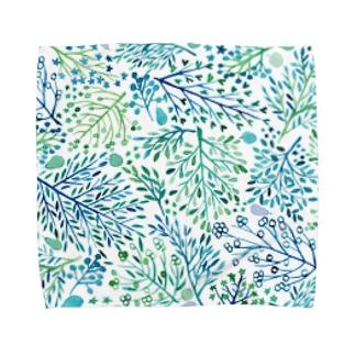 青い木たち Towel handkerchiefs