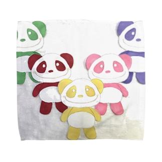 イエローパンダとなかまたち Towel handkerchiefs