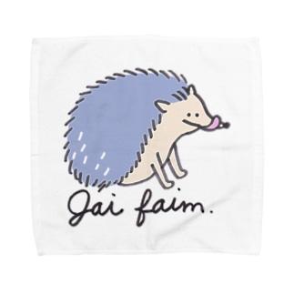 ハラヘリハリネズミ Towel handkerchiefs