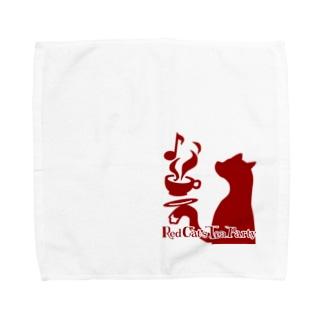 赤猫茶会ロゴ Towel Handkerchief